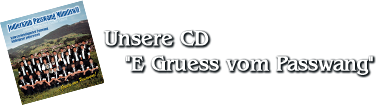 "Unsere CD ""E Gruess vom Passwang"""